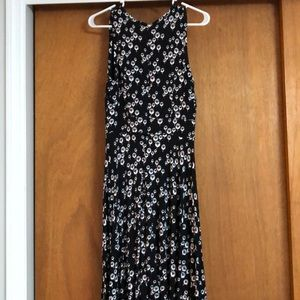 Loft dress with white and red print - size 4